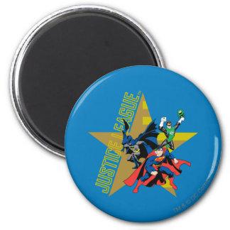 Héroes de la estrella de la liga de justicia imán redondo 5 cm