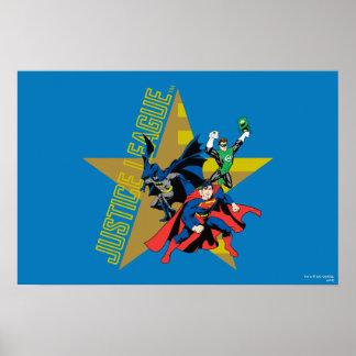 Héroes de la estrella de la liga de justicia poster