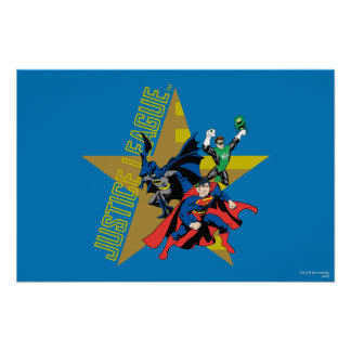 Héroes de la estrella de la liga de justicia póster