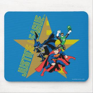Héroes de la estrella de la liga de justicia tapetes de ratón