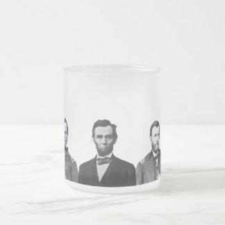 Héroes de la guerra civil de la unión taza de cristal