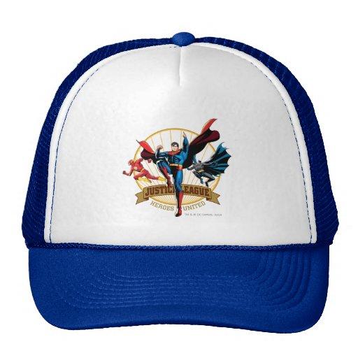 Héroes de la liga de justicia unidos gorras de camionero