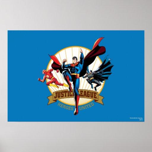 Héroes de la liga de justicia unidos posters