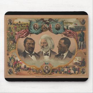 Héroes de la raza coloreada Frederick 1881 Alfombrillas De Raton