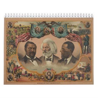 Héroes de la raza coloreada Frederick 1881 Douglas Calendario