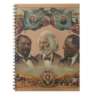 Héroes de la raza coloreada Frederick 1881 Douglas Libreta
