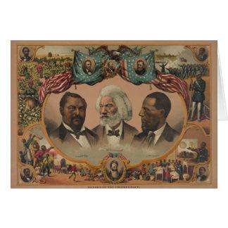 Héroes de la raza coloreada Frederick 1881 Tarjeta De Felicitación
