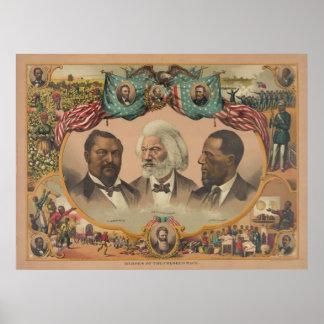 Héroes de la raza coloreada publicada por J. Hoove Posters