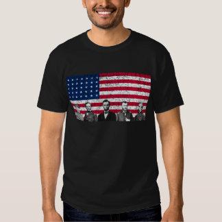 Héroes de la unión y la bandera americana camisas
