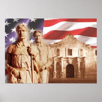 Héroes del Álamo, San Antonio, Tejas Póster