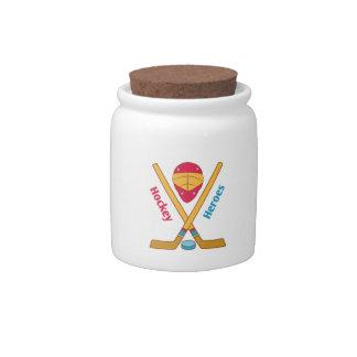 Héroes del hockey jarras para caramelos