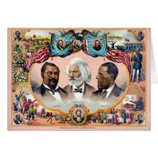 Héroes del poster coloreado 1881 de la raza tarjeta de felicitación