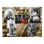 Héroes en la colección de la historia tarjeta postal