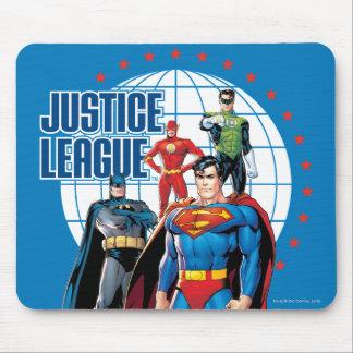 Héroes globales de la liga de justicia alfombrillas de raton