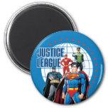 Héroes globales de la liga de justicia imán para frigorífico
