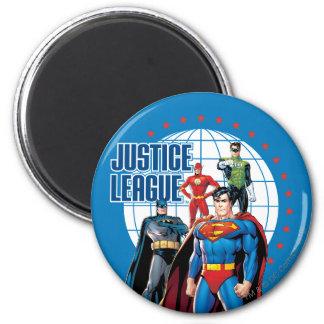 Héroes globales de la liga de justicia imán redondo 5 cm