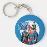 Héroes globales de la liga de justicia llaveros personalizados