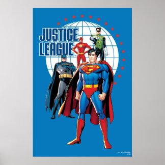 Héroes globales de la liga de justicia impresiones