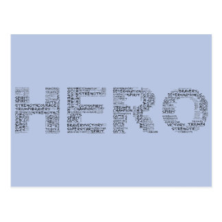 Heroes in the Fight Against Cancer (Black Text) Postcard