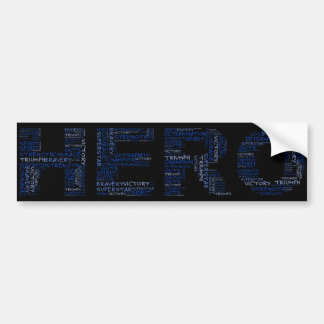 Heroes in the Fight Against Cancer (Blue Text) Bumper Sticker