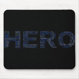 Heroes in the Fight Against Cancer (Blue Text) Mouse Pad