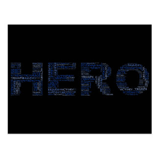 Heroes in the Fight Against Cancer (Blue Text) Postcard