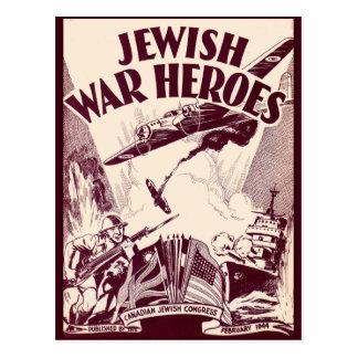 Héroes judíos de la guerra tarjetas postales