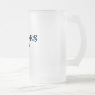 Heroes live forever frosted glass beer mug