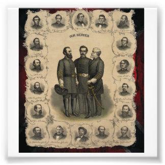 Héroes los E.E.U.U. de la guerra civil del sur Fotografía