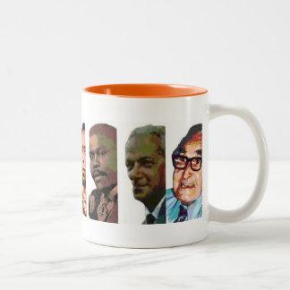 Héroes nacionales taza de café de dos colores