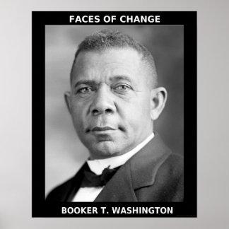 Héroes negros del mes de la historia - Booker T. W Póster