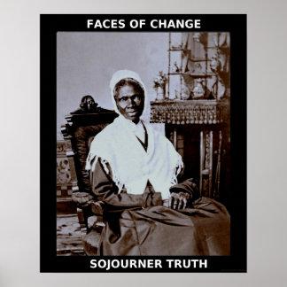 Héroes negros del mes de la historia - verdad del  póster