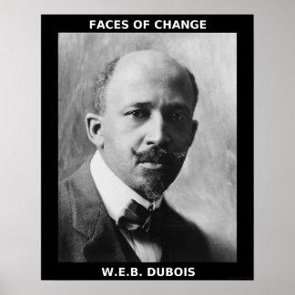Héroes negros del mes de la historia - W.E.B. DuBo Póster