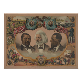 Heroes of the African American Race Black History Poster