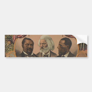 Heroes of the Colored Race 1881 Frederick Douglass Bumper Sticker