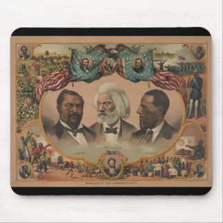 Heroes of the Colored Race 1881 Frederick Douglass Mouse Pad