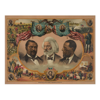 Heroes of the Colored Race 1881 Frederick Douglass Postcard