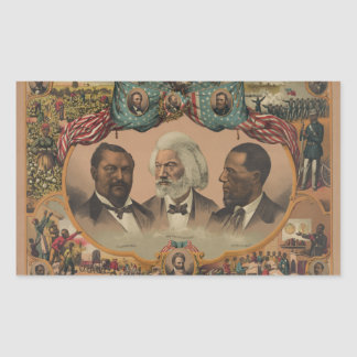 Heroes of the Colored Race 1881 Frederick Douglass Rectangular Sticker