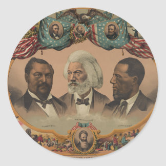Heroes of the Colored Race 1881 Frederick Douglass Classic Round Sticker