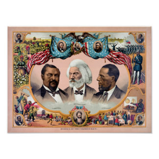 Heroes of the colored race Poster 1881 Restored