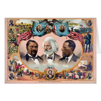 Heroes of the colored race Poster 1881 Restored Card