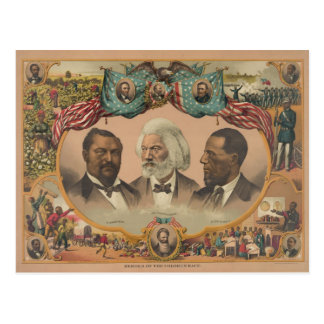 Heroes of the Colored Race Published by J. Hoover Postcard