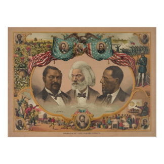 Heroes of the Colored Race Published by J. Hoover Poster