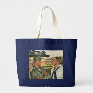 Héroes patrióticos del vintage, personal militar bolsas de mano