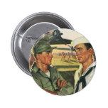 Héroes patrióticos del vintage, personal militar pin
