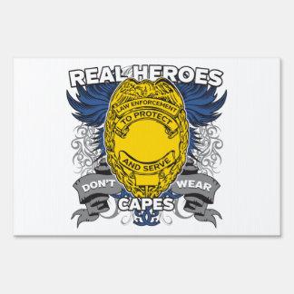 Héroes reales de la aplicación de ley señal