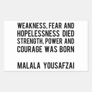 HÉROES REALES - Malala Yousafzai Rectangular Pegatinas