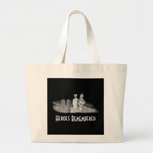 Héroes recordados bolsas de mano