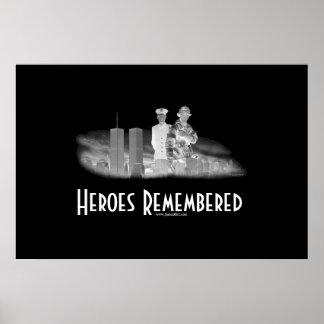 Héroes recordados póster