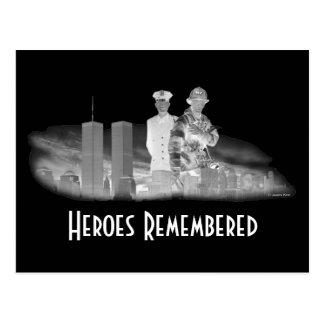 Héroes recordados tarjetas postales